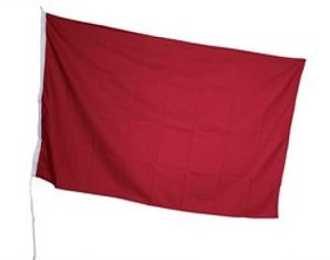 Bilde av Sikkerhetsflagg RØDT FLAGG 125x75cm