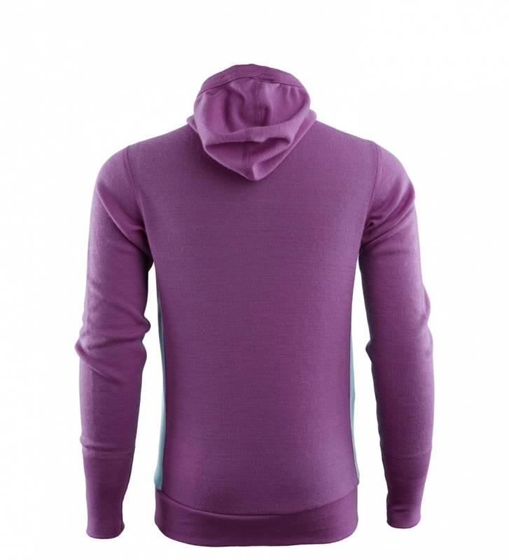 Bilde av Aclima WarmWool Hoodsweater Ch Sunset Purple/Reef Waters