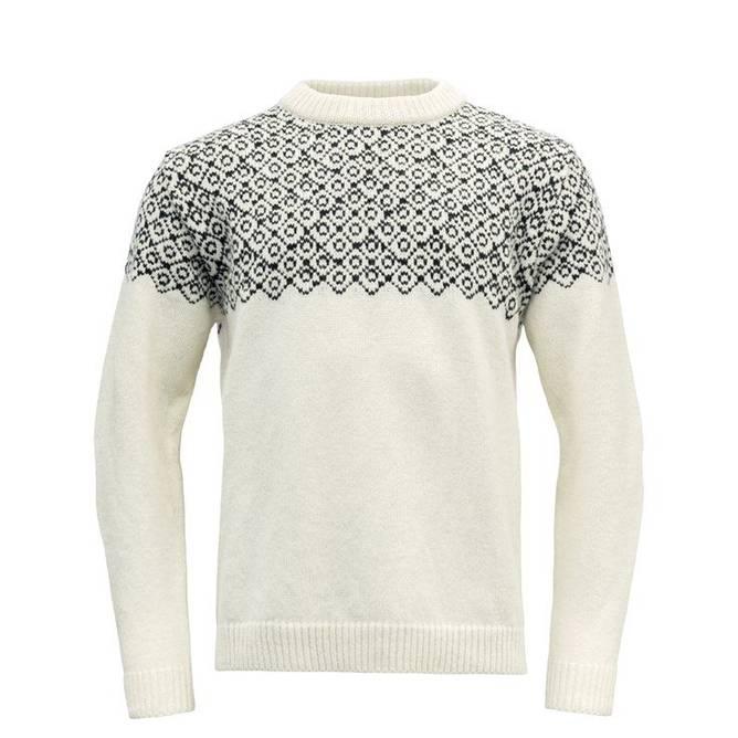 Bilde av Devold Bjørnøya Sweater Crew Neck Offwhite/Ink