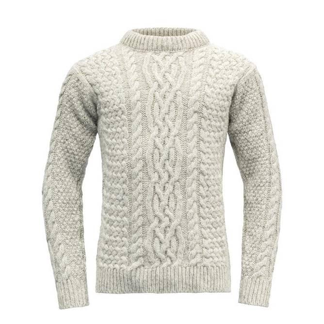 Bilde av Devold Sandøy Sweater Crew Neck Grey Melange