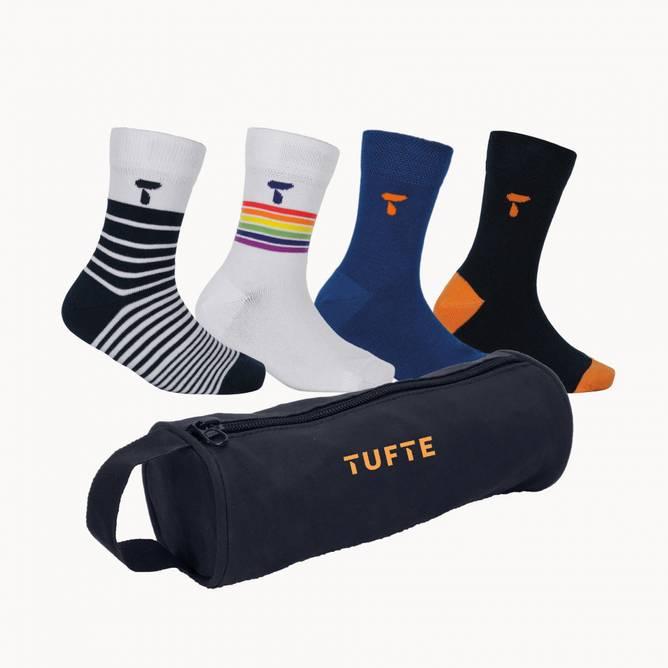 Bilde av Tufte Kids School Pack Dress Blues Socks 4 pk